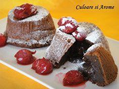 Chocolate lava (Vulcan de ciocolata) este un desert simplu dar foarte gustos si spectaculos. Este usor de preparat. Ingrediente: – 160 g ciocolata de buna calitate (amaruie sau cu lapte….dupa preferinta) – 2 oua – 2 galbenusuri – 75 g unt – 40 g faina alba – 75 g zahar …