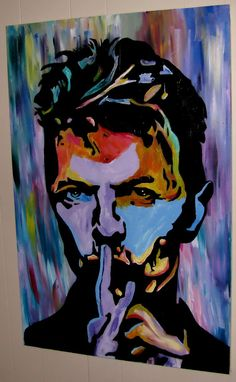 CHARITY AUCTION David Bowie Original Gallery Painting on canvas Banksy MBW  | eBay
