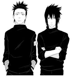 Shikamaru and Sasuke looking rather sexy