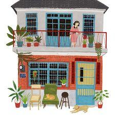 老宅系列-台灣老房子 (Old House Series - Taiwanese Old House) | Flickr - Photo Sharing! #architecture #illustration #taiwan