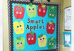 Apple Bulletin Boards, September Bulletin Boards, Apple Activities, Autumn Activities, U Craft, Turkey Drawing, September Crafts, Pete The Cats, Letter To Teacher