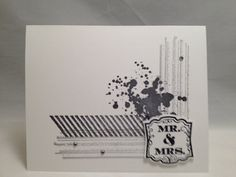 Mr & Mrs Card  made with Stampin' Up Products by JCrafting on Etsy, $4.00