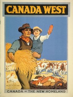 size: Giclee Print: Poster Promoting Immigration to Canada Art Print : Subjects Vintage Advertisements, Vintage Ads, Vintage Posters, Vintage Ephemera, Retro Posters, Vintage Travel, Vintage Images, Travel Ads, Travel Posters