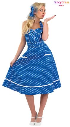 ae3bacda164f Our adult ladies Fancy Dress Costumes collection is inspired by the era of  Rock and Roll. We have a huge selection of rockabilly dresses