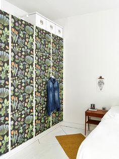 wallpaper on closets / wardrobes