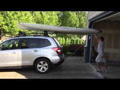 Loading Hobie Revolution Kayak Onto The Roof Rack   YouTube
