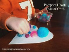 Baby Giveaways Galore: Pompom Hearts Toddler #Craft