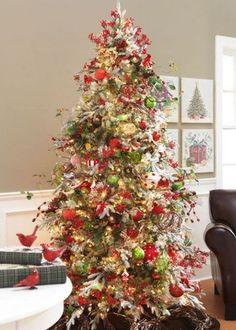 Cardinal Bird Christmas tree