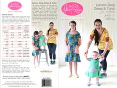 lemon-drop-dress-tunic pattern for toddler, girl and misses by Anna Maria Horner