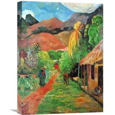 Global Gallery 'Chemin a Papeete' by Paul Gauguin Painting Print on Wrapped Canvas Size: