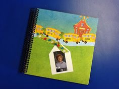 Classroom DIY: DIY End of Year Student Scrapbook - instead of a gift use scanned pictures of your kid's art projects for the year.
