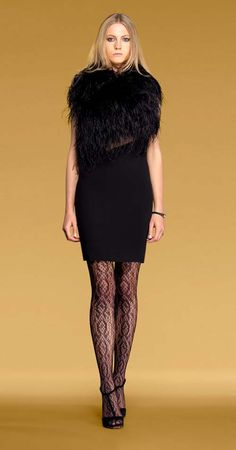 Gucci Dresses | Gucci-black-georgette-and-black-ostrich-feathers-sleeveless-dress-1
