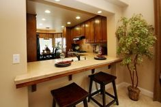 peninsula dining table kitchen - Google Search