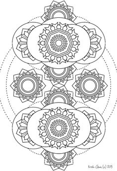 Printable Intricate Mandala Coloring Pages, Instant Download, PDF, Mandala Doodling Page, Adult Coloring Pages, Kids Coloring Pages