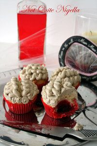 Brain and Blood Clot Cupcakes