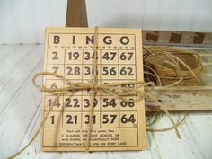 Vintage Bingo Cards Collection of 15  Aged Paper by DivineOrders, $12.00