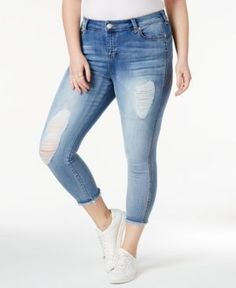 43a6d574b25 Celebrity Pink Trendy Plus Size Ripped Skinny Jeans Plus Sizes - Jeans -  Macy s
