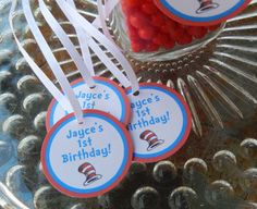 Dr. Seuss Birthday Thank You Favor Tags For Cake Pops Party Favor Tags, Gift Tags, Party Favors, Dr Seuss Birthday, Birthday Thank You, Cookie Favors, Cake Pops, Bridal Shower, Cards