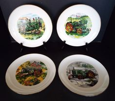 4 John Deere Credit Union Collector Plates Limited Edition 1983-85 Waterloo Iowa & 3 John Deere Credit Union Collector Plates Ltd Ed 1983-1984 Waterloo ...