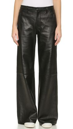 J Brand Carine Wide Leg Leather Pants - if only they weren't real leather :-(