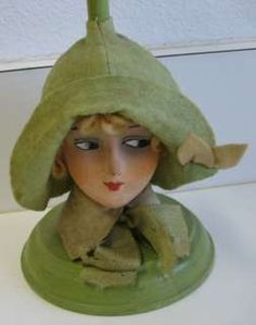I love these 1920s Flapper hat stands! German