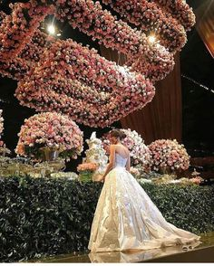 """""""Out of words Just the prettiest floral chandelier we have ever seen whos inspired ! Country Wedding Dresses, Boho Wedding Dress, Dream Wedding Dresses, Floral Wedding, Wedding Colors, Sparkle Wedding, Backless Wedding, Modest Wedding, Tulle Wedding"""