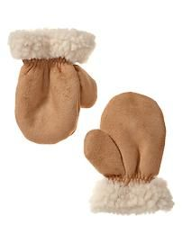 Shearling mittens                            d
