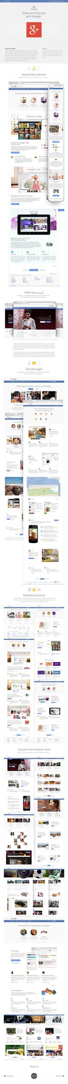google+ redesign conception by Harald Urthorleifsson