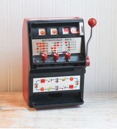 Slot Machine Japanese Slots 1970s Toy Retro Slot by MollyFinds
