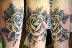 Traditional Rose Sleeve Tattoo | FloweryWeb