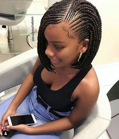 10 Bob Braids Hairstyles 2019 Bob Braids Hairstyles Newhair Bob Box Braids Bob Braids Box Braids Styling Braided Hairstyles 23 Trendy Bob Braids For African Ame Natural Hair Braids, Braids For Black Hair, Braids For Black Women Cornrows, Cornrows For Girls, Curly Hair Styles, Natural Hair Styles, Hair Braiding Styles Black, African Braids Hairstyles, Ladies Hairstyles