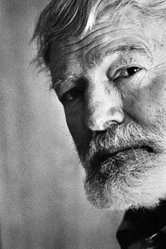 Ernest Hemingway - see what I mean? B/W just grabs you and holds on.