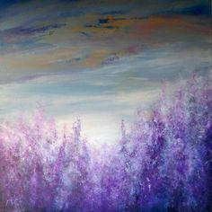 """Saatchi Online Artist: K McCoy; Acrylic 2013 Painting """"Lavender - Abstract Art"""""""