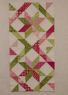 Again, look what can be done with half square triangles!! Love this!
