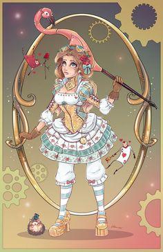 Steampunk Alice in Wonderland by NoFlutter.deviantart.com on @DeviantArt