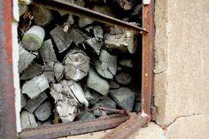 wood in a broken building