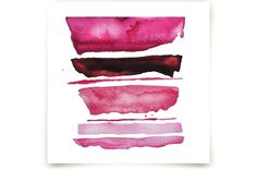 of land and sea_ pink refraction by Kiana Mosley at minted.com