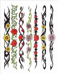 Armband Tattoos for Women | Armband Tattoos Gallery, rose tattoo designs, sunflower tattoo designs ...