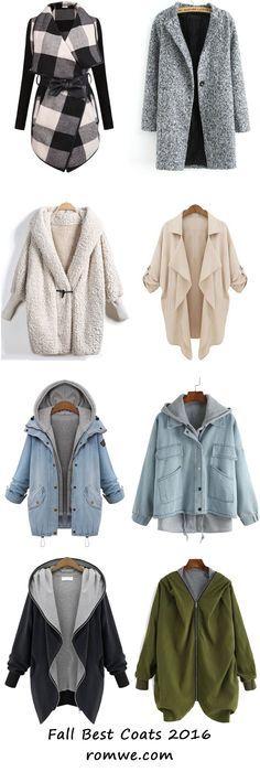Warm Fall & Winter - best coats from http://romwe.com