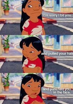 Lilo and Stitch. This is why Lilo is the best Disney character. Disney Pixar, Walt Disney, Gif Disney, Disney Memes, Disney Quotes, Disney Films, Disney And Dreamworks, Disney Love, Disney Magic