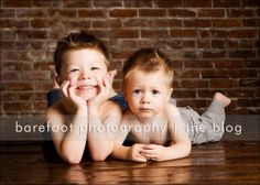 Cute photo idea for brothers; Nolan and Noah WILL do this. (: