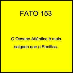 o oceano atlântico é mais salgado que o pacífico