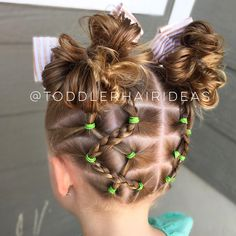 Criss-crossed back ponies with one side braided, up to high messy bun piggies! This style definitely took some extra time but it turned out really cute + it held perfectly for 2 full days! •Click the link in my bio for my fav products and FAQ! Cute bows from @littleloveleighs and style inspired by @curious_strands!