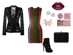 """""""Untitled #90"""" by ancatisha on Polyvore featuring Balmain, Judith Leiber, Moschino, Effy Jewelry, Luna Skye and Lime Crime"""