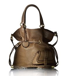 Lancel Flirt Bag in Cognac lizard skin