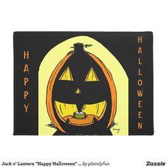 "Jack o' Lantern ""Happy Halloween"" Seasonal Doormat"