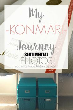 Encouraging post for sorting through photos. My KonMari Journey: Sentimental - PHOTOS - Teacher by trade, Mother by nature Clutter Organization, Home Organization Hacks, Organization Ideas, Declutter Your Home, Organizing Your Home, Konmari Method, Tidy Up, Spring Cleaning, Decluttering