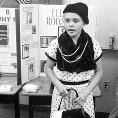 Eleanor Scott is named after her grandmother who was named after Eleanor Roosevelt. Eleanor chose to be Eleanor for wax museum day at school. by jac_scott