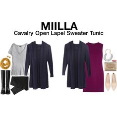 Cavalry Open Lapel Sweater Tunic
