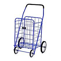 EASY WHEELS Jumbo Shopping Cart, Blue
